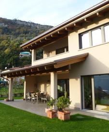 Costruzione casa in legno Como