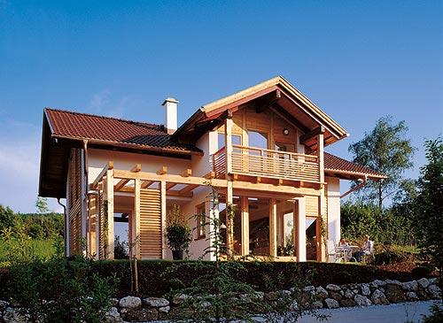 Foto case in legno alpine classiche e moderne realizzate for Case legno moderne