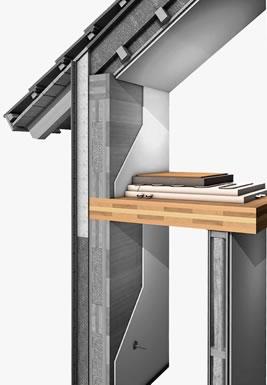 Solaio interpiano delle case in legno baldini - Parete interna in legno ...