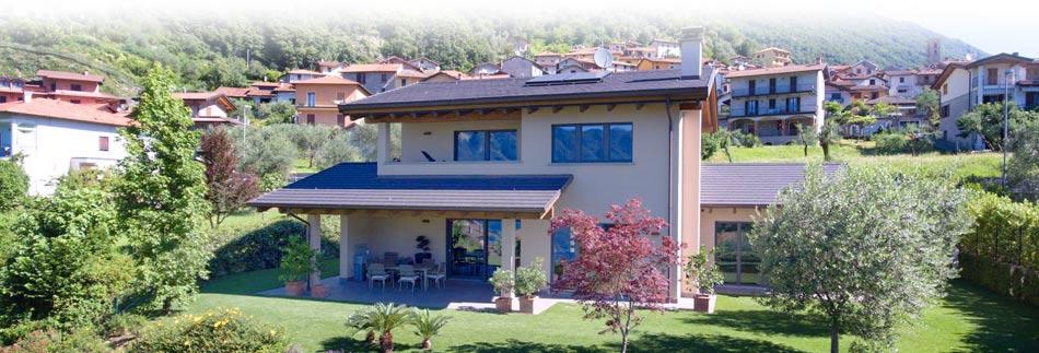 Villa in legno moderna